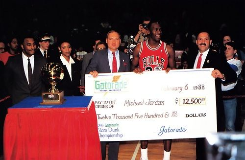 All Star Rewind  25 years ago today Michael Jordan won his second consecutive Slam Dunk Contest