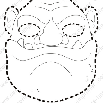mask ogre halloween pinterest masks. Black Bedroom Furniture Sets. Home Design Ideas