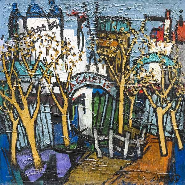 'Les Arbres Jaunes' Oil on Canvas: 75 x 75 cm Signed by Claude Venard (1913 - 1999)