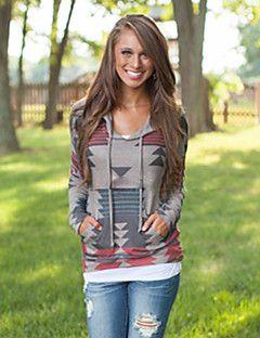 Women's Print Multi-color Hoodies , Print Hooded Long Sleeve – CAD $ 27.79