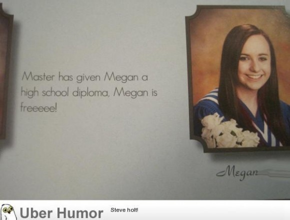"""I do believe she won this round of """"best yearbook quote"""""""