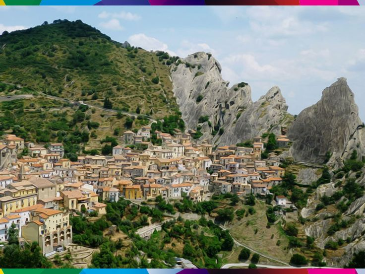 """Castelmezzano is a town and comune in the province of Potenza, in the Southern Italian region of Basilicata. It is part of the club The most beautiful villages in Italy and in 2007 Castelmezzano was included by Budget Travel magazine among """"The best places you've never heard of. #raiexpo #italia2015  #expo2015 #potenza #italy #basilicata #landscape #castelmezzano"""