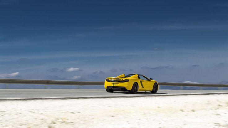 2014 McLaren MP4-12C Spider in Volcano Yellow color