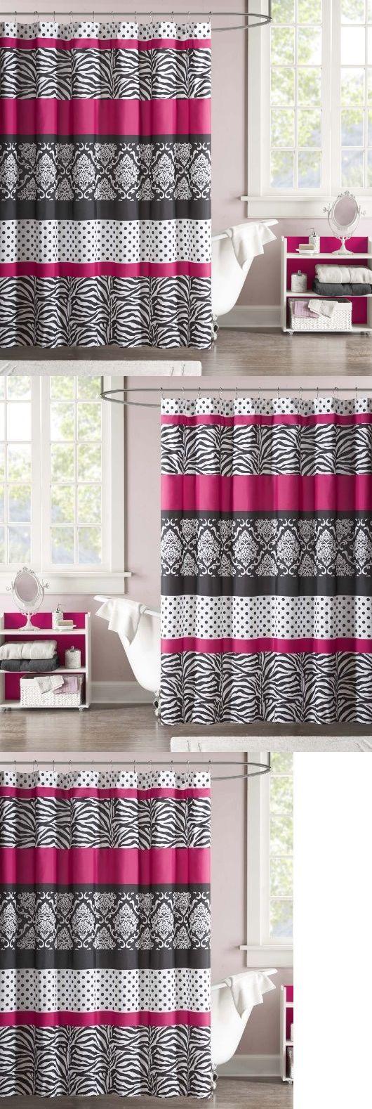 Shower Curtains 20441: Fabric Shower Curtain Kids Teens Pink Stripes Polka Dot Zebra Print Bathroom 72 -> BUY IT NOW ONLY: $36.99 on eBay!