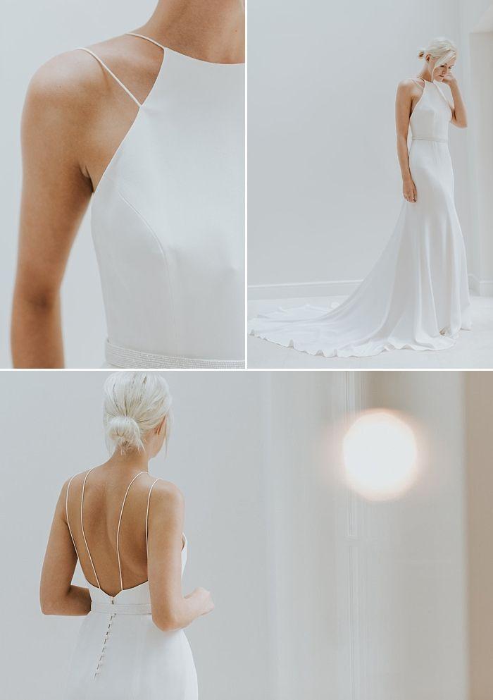 Modern Minimalist Wedding Dress - Charlotte Simpson Bridal