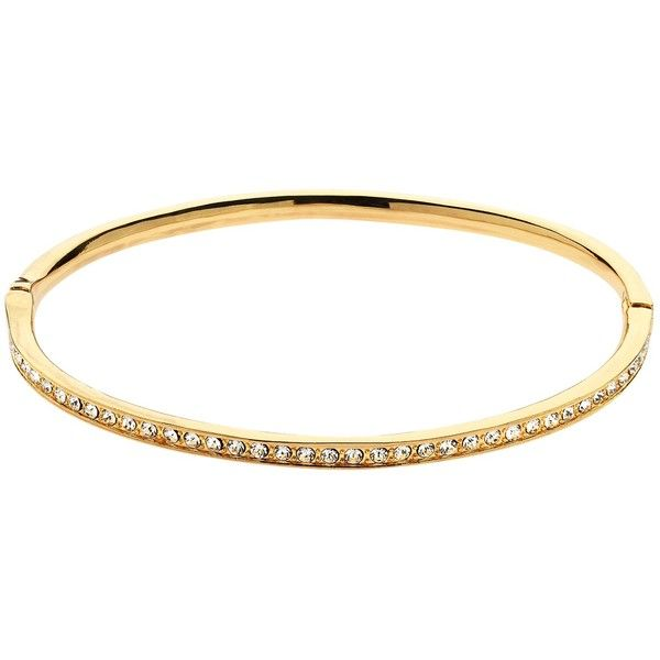 Melissa Odabash Crystal Bangle ($74) ❤ liked on Polyvore featuring jewelry, bracelets, gold, crystal stone jewelry, melissa odabash, bangle jewelry, crystal bangles and polish jewelry