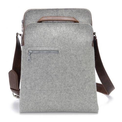 Messenger Bag - Zip-Top grey | Graf & Lantz