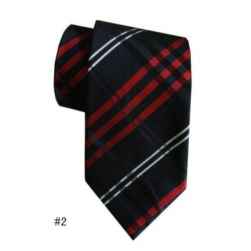 Галстук черный/красный/белый в стиле  Burberry - купить в Киеве и Украине по недорогой цене, интернет-магазин