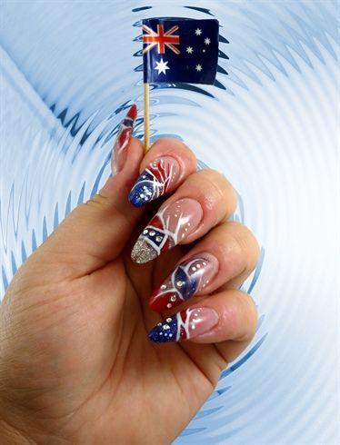 australian nail art Australia Day nails