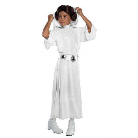 Disfraz de Princesa Leia Premium para Niña Guerra de las Galaxias #Star #Wars #Leia #Costume