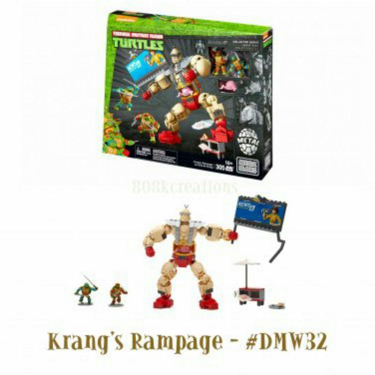 Teenage Mutant Ninja Turtles | TMNT Mega Bloks Classic Collectors Series Krang's Rampage #DMW32