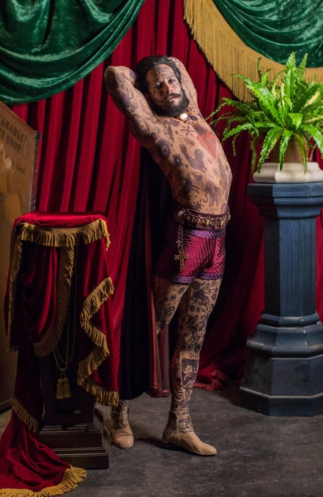 Image result for Shannon Holtzapffel as Prince Constantine, The Tattooed Man.