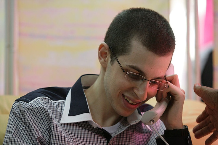 IDF soldier Gilad Shalit during release :-)
