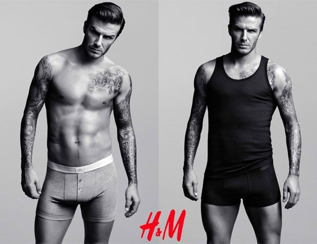 """David Beckham may no longer be captain of England's soccer team, but he's still playing in the big leagues when it comes to underwear modeling. Beckham has been an underwear model for quite sometime now—he joined the venerable roster of Calvin Klein billboard stars back in 2007 and has also posed for one of their competitors, Emporio Armani. This year, Beckham is taking the next step—he has designed his own underwear collection (sorry, """"bodywear"""" collection) for H&M;! Take that, Marky Mark…"""