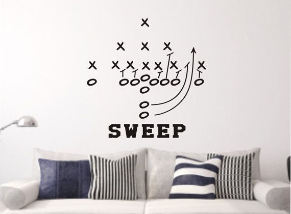 Football Wall Decal - Football Wall Decal - Playbook Wall Decal - Football Vinyl Decal - Football Decal - Football Play Decal