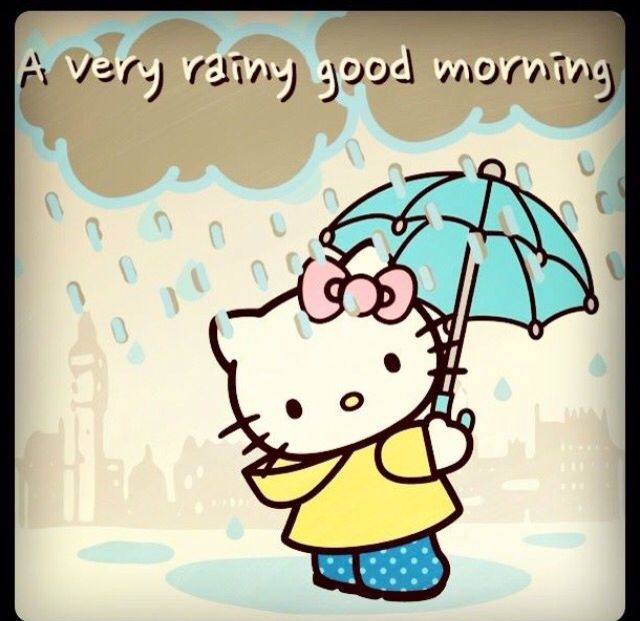 Hello Kitty Rainy Good Morning Quote morning hello kitty good morning morning quotes good morning quotes morning quote good morning quote