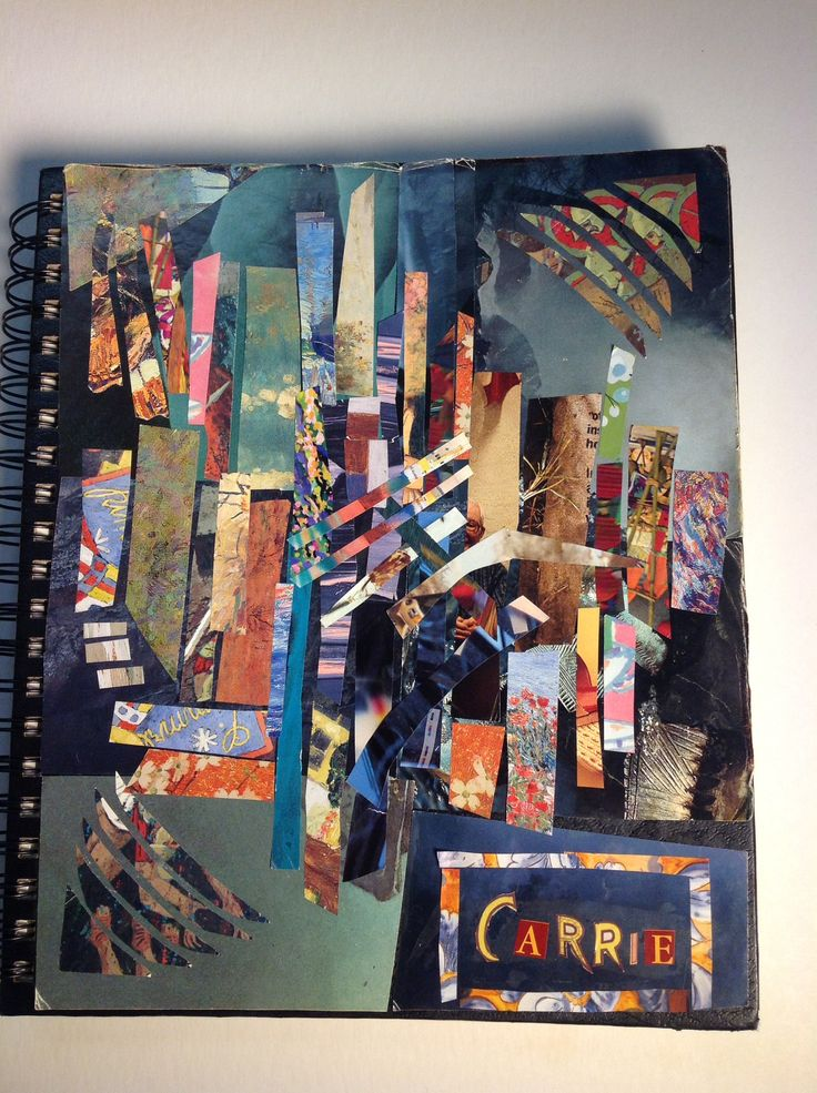 Sketchbook Cover Collage : Best student collage sketchbook cover cp art