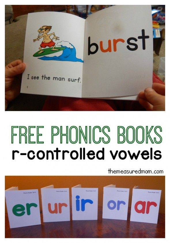 Free phonics books to help your c child master er, ur, ir, or, and ar words. Great pictures!