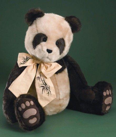"Retired  Boyds Bears   MR. ZEN 30"" Panda Bear"