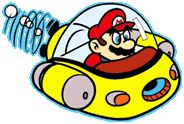 #Mario flying  a spaceship from the official artwork set for #SuperMarioLand on the #GameBoy. #Retrogaming #Nintendo. Click here to find out more about Super #Mario Land http://www.superluigibros.com/super-mario-land-gameboy