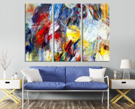 Modern Abstract Wall Art Mix Color