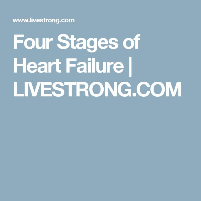 Four Stages of Heart Failure | LIVESTRONG.COM