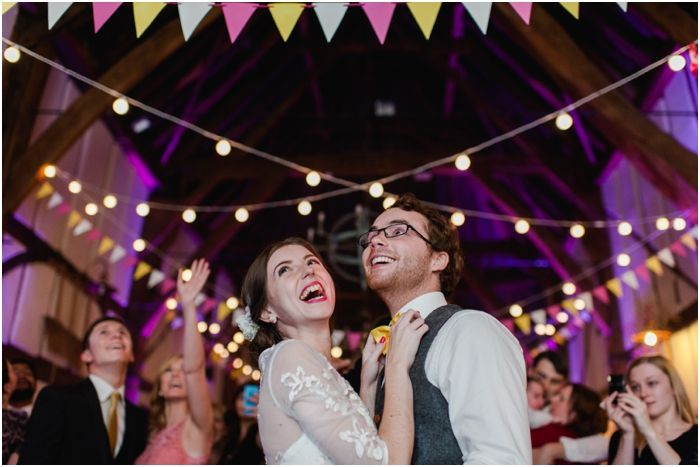 Barns hotel - festoons, bunting and a gorgeous couple. Perfect.