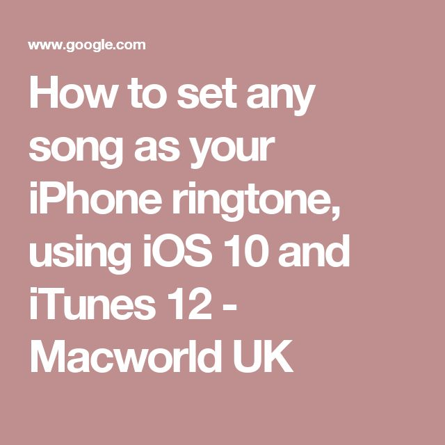 how to add ringtone to iphone 6 using itunes 12