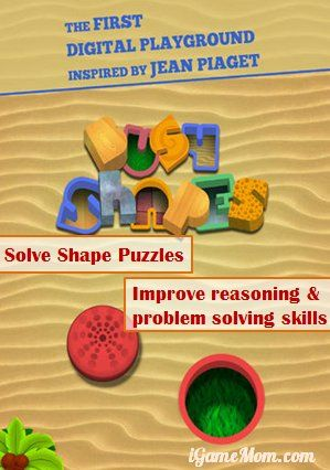 Learn reasoning and problems solving skills while playing fun shape puzzles #kidsapps #MathApps
