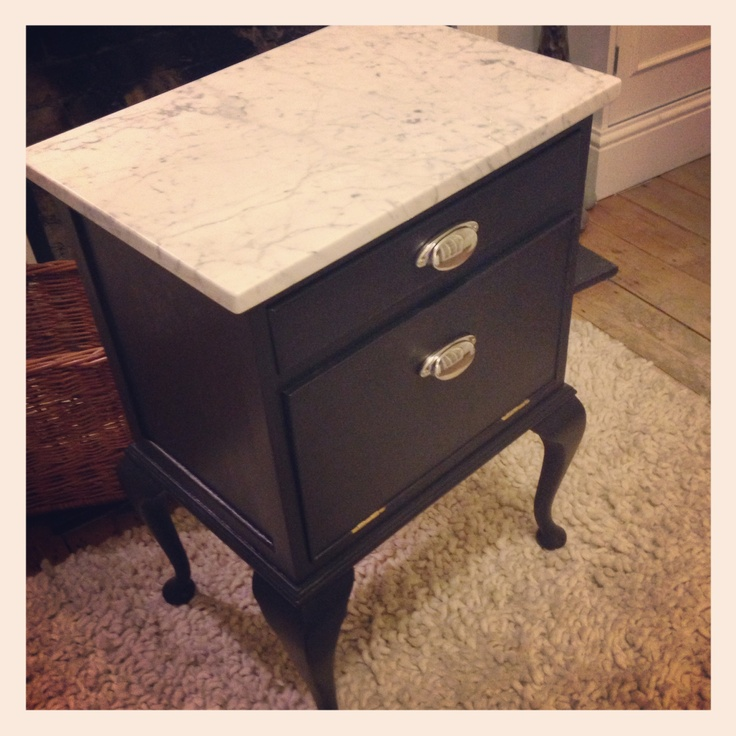 Bespoke furniture by House of Hopcroft. £300 - SOLD! Marble top and cowhide lined draws