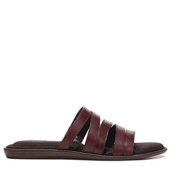 Eastland Women's Phoebe Memory Foam Slide Sandals (Cinnamon Leather)