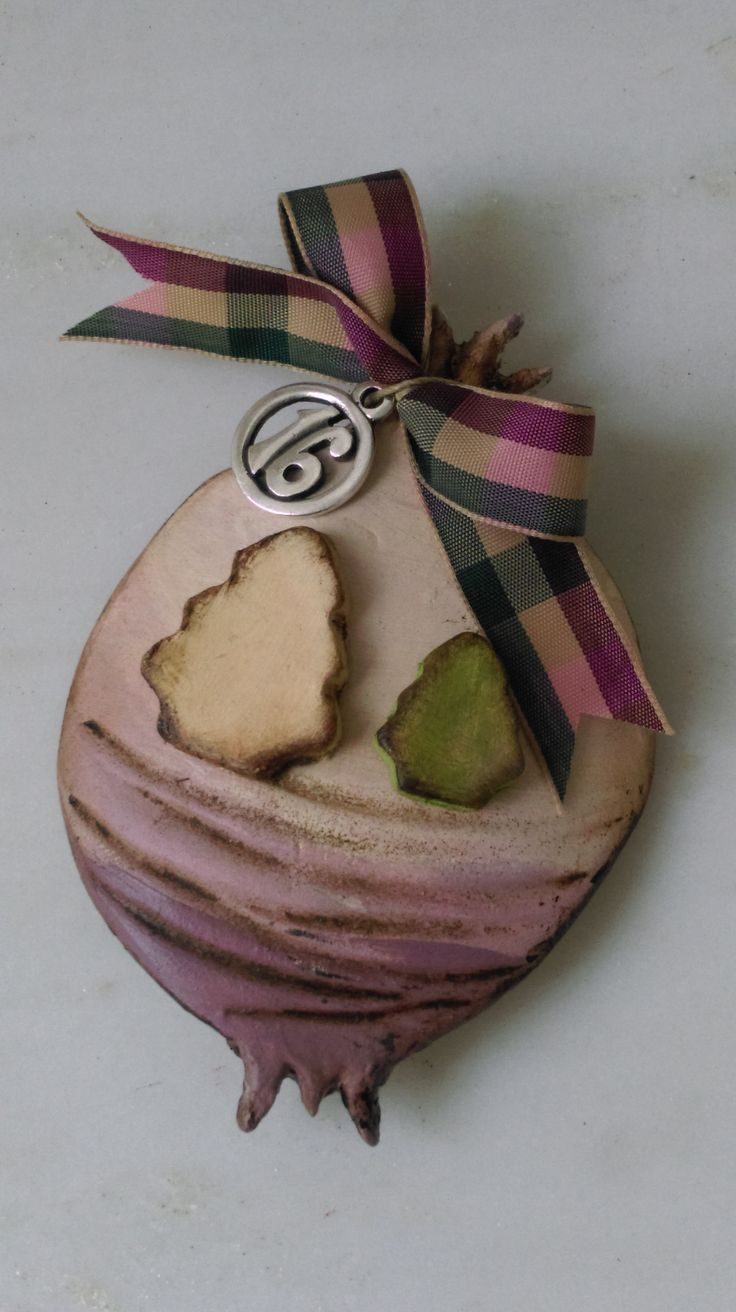 Christmas ornament made of air-dry clay