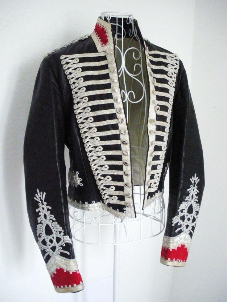 Vintage Hussar military drummer boy jacket Steampunk coat