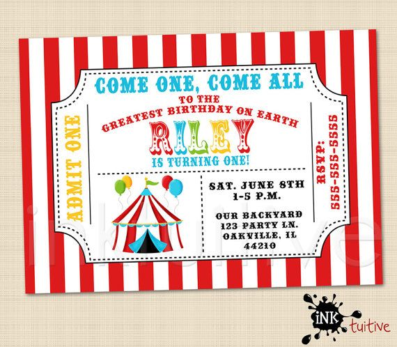 158 Best Maggie'S Circus Party Images On Pinterest | Circus Party