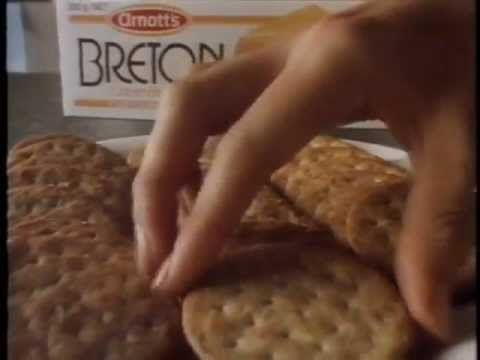 Arnotts Breton Biscuit. Australian TV ad 1987 - YouTube