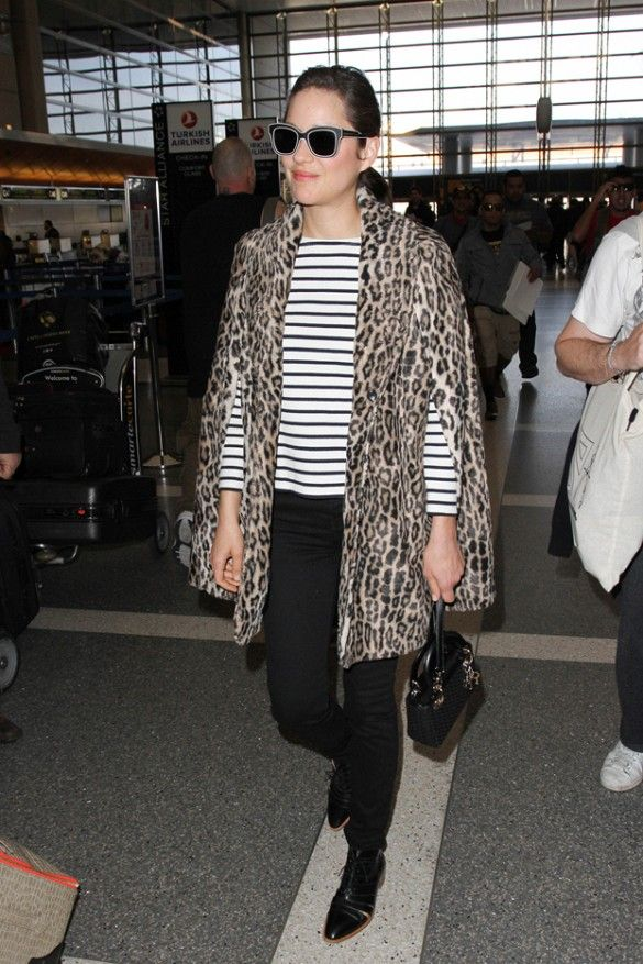 How to Dress Like a French Girl at the Airport via @WhoWhatWear