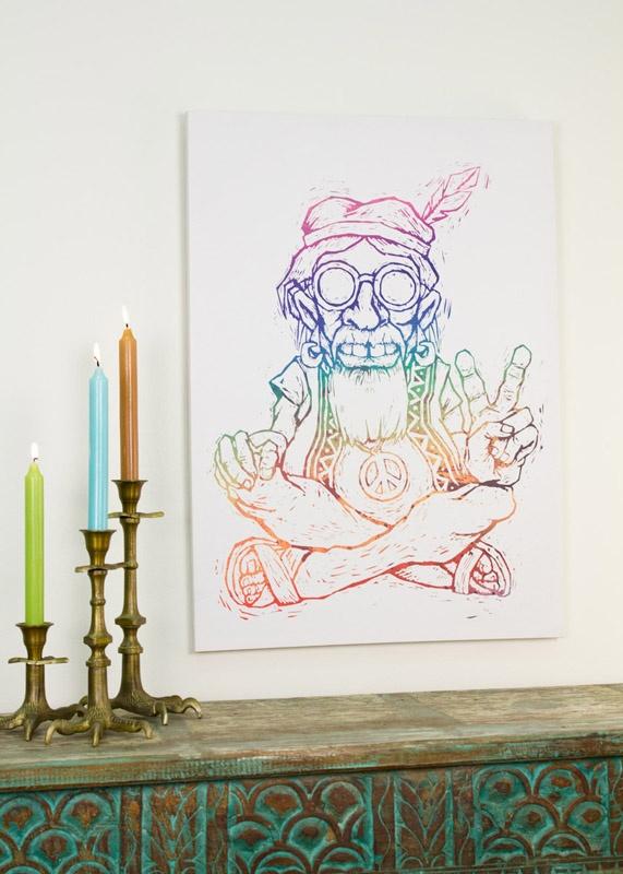 27.5x19.75 Chuck the Hippie Canvas Art