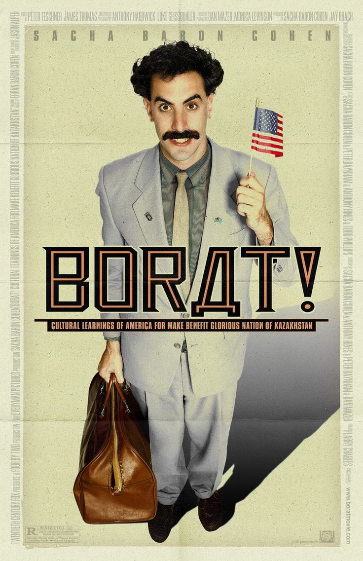I have never laughed harder, nor desperately gasped for air more in my life, but when watching this movie.  There are moments so funny you aren't sure if you're going to pass out or not.  This movie is exceedingly crude on the surface (banned in many countries) - but the character Borat, through his journey, brings to focus an uncensored look at prejudice, phobic and contemporary cultural insanities.  This movie is unequivocally as intelligent as it is funny.