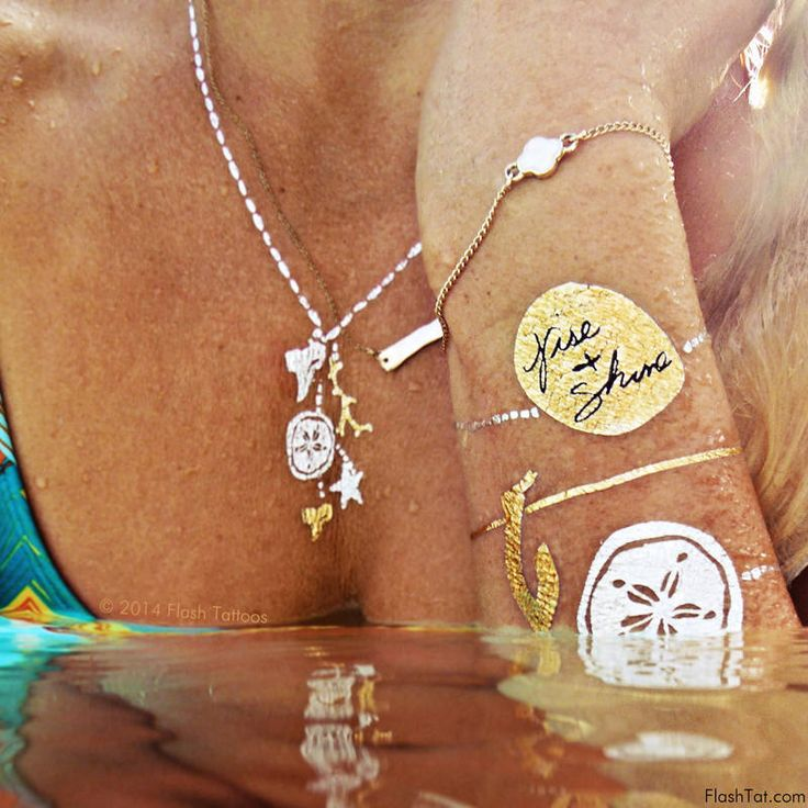 Metallic Temporary Tattoo| Shop Goldfish Kiss H20 | Flash Tattoos