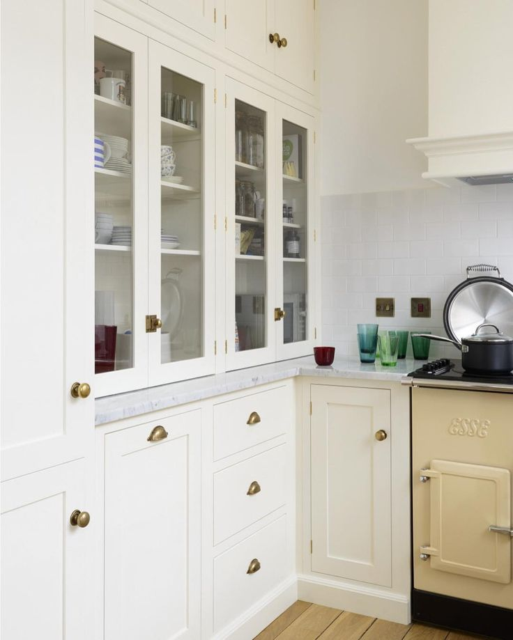 A Beautiful Wall Of Bespoke Fitted Cabinets Making The Most Out Of This  Small Kitchen Space.