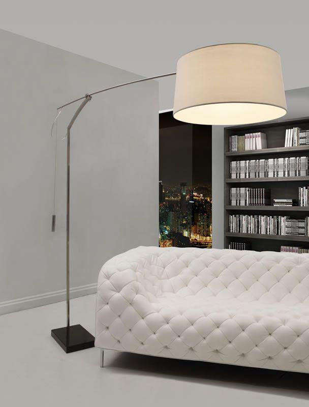 Zuo Blazar Floor Lamp Beige – Modish Store