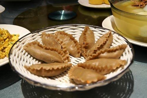 naked oats dumplings,steam food