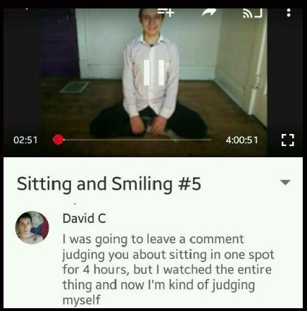 That person who is quietly judging himself… | 26 YouTube Comments That Are Actually Funny