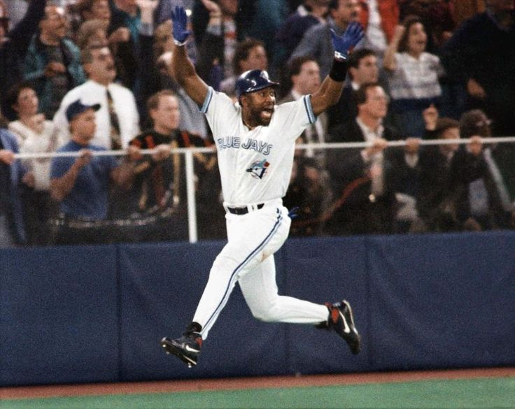 "Joe Carter's Walk-Off World Series Home Run - This is what it looks like when you achieve what every kid dreams of in his backyard. Down one run in the bottom of the 9th inning in the World Series, and you get up with men on and hit the Championship-clinching home run. As announcer Tom Cheek said that day, ""Touch 'em all, Joe."""