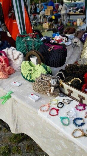 Parte della mia esposizione, mercatino a Ravenna presso pala de Andrè