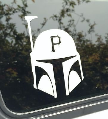 Pirates decal boba fettpittsburghdie cut vinyl stickerwindowbumper