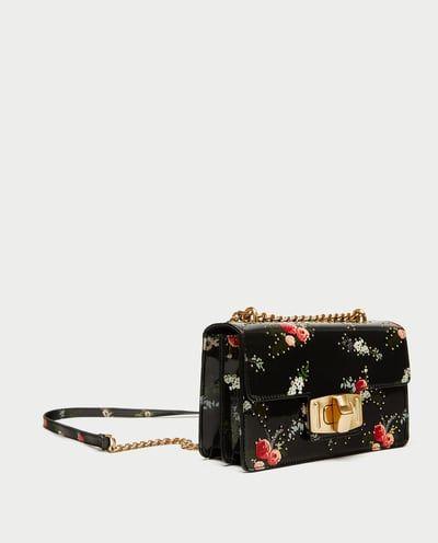 fe26ea585124ac 花卉印花單肩包-包-減價-女士 | ZARA 台灣 | Bag | Floral prints, Cross Body Bag, Bags