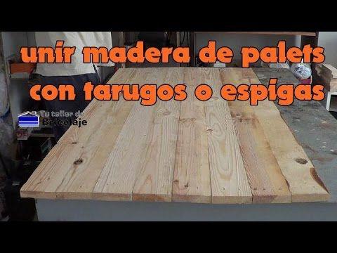 Cómo unir madera de palets con tarugos o espigas | Bricolaje
