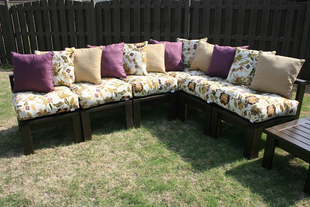 The 36th AVENUE DIY Outdoor Sectional...love this idea for the deck