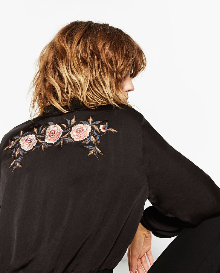 EMBROIDERED SATEEN TOP-NEW IN-WOMAN   ZARA United States